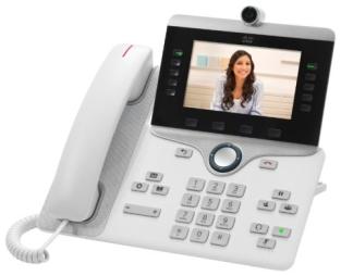 Конференц-телефон Cisco 8865, 5 x SIP, 2 x GE, Wi-Fi, белый [CP-8865-W-K9=]