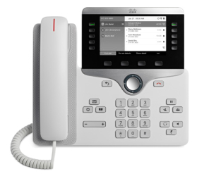 "Конференц-телефон Cisco 8811, 5 x SIP, 1 x GE, 5"" ч/б LCD, белый [CP-8811-W-K9=]"